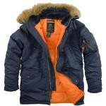 Куртка Аляска зимняя N-3B Replica Blue/ Orange