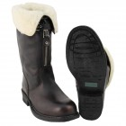"Ital. Leather boots ""PISTON"" shearling brown"