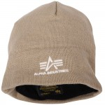 """Шапка с флисовой подкладкой """"Knit Cap""""  Alpha (Khaki)"""