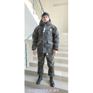 """Зимний костюм """"AK-74"""" """"Черный-Мультикам""""-32*"""