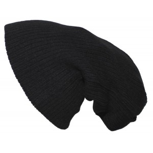 "Вязаная шапка ""BEANIE"" black rip extra long"